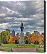 Washington In The Public Garden Canvas Print by Joann Vitali