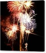 Washington Monument Fireworks 2 Canvas Print by Stuart Litoff