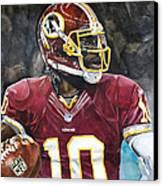 Washington Redskins' Robert Griffin IIi Canvas Print by Michael  Pattison