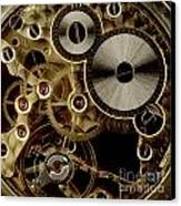 Watch Mechanism. Close-up Canvas Print by Bernard Jaubert