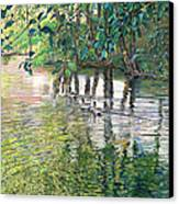 Water And Woodland Canvas Print by Nick Payne