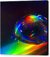 Water Drop Canvas Print by Naushad  Waheed