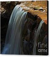 Water Fall At Seven Falls Canvas Print by Robert D  Brozek