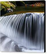 Water Falling Great Smoky Mountains Canvas Print by Rich Franco