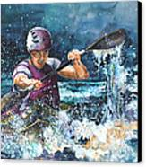 Water Fight Canvas Print by Miki De Goodaboom