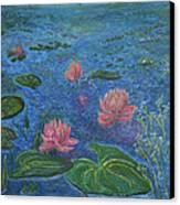 Water Lilies Lounge 2 Canvas Print by Felicia Tica
