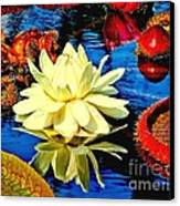 Water Lilly Pond Canvas Print by Nick Zelinsky