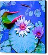 Water Lily I Canvas Print by Ann Johndro-Collins