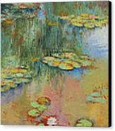 Water Lily Canvas Print by Michael Creese