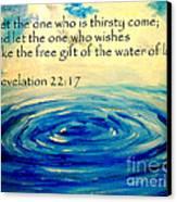 Water Of Life Canvas Print by Amanda Dinan