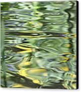 Water Reflection Green And Yellow Canvas Print by Dan Sproul
