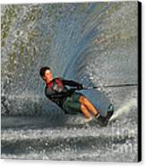 Water Skiing Magic Of Water 13 Canvas Print by Bob Christopher