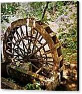 Water Wheel Canvas Print by Marty Koch