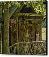 Water Wheel Shed I Canvas Print by Robert J Andler