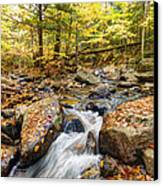 Waterfall In The Fall Nh Canvas Print