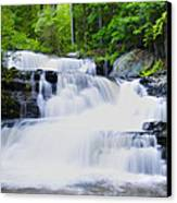 Waterfall In The Pocono Mountains Canvas Print