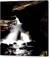 Waterfall- Viator's Agonism Canvas Print by Vijinder Singh
