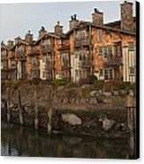 Waterfront Apartments Canvas Print by Gordon  Grimwade