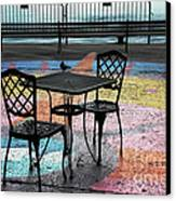 Waterfront Seating Canvas Print