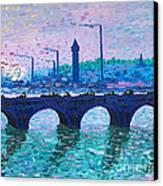 Waterloo Bridge Homage To Monet Canvas Print by Kevin Croitz