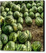 Watermelon Man Watermelon Stand Canvas Print by William Fields