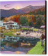 Waterville Estates In Autumn Canvas Print by Nancy Griswold