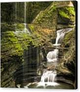 Watkins Glen Falls Canvas Print by Anthony Sacco