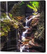 Watkins Glen Rainbow Falls Canvas Print by Mark Papke