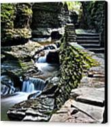 Watkins Glen State Park Canvas Print by Frozen in Time Fine Art Photography