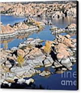Watson Lake And The Granite Dells Canvas Print