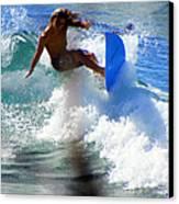 Wave Rider Canvas Print by Karen Wiles