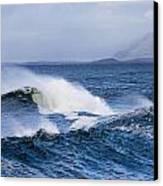 Waves In Easkey 4 Canvas Print by Tony Reddington