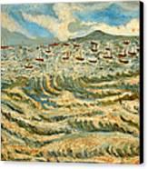 Waves Of Ganga Canvas Print by Anand Swaroop Manchiraju