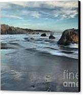 Waves On The Rocks Canvas Print by Adam Jewell