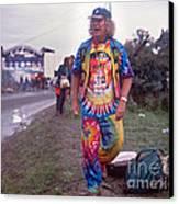 Wavy Gravy At Woodstock Canvas Print by Chuck Spang
