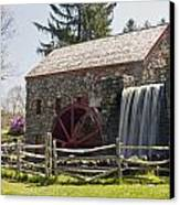 Wayside Grist Mill 5 Canvas Print by Dennis Coates
