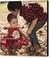 We Love Grandma Canvas Print