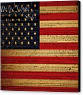 We The People - The Us Constitution With Flag - Square V2 Canvas Print