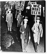 We Want Beer Canvas Print