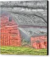 Weather Barn Canvas Print by Sarah E Kohara