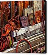 Weathered Rims And Chains Canvas Print