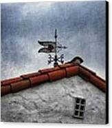 Weathered Weathervane Canvas Print by Carol Leigh