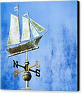 Weathervane Clipper Ship Canvas Print by Carol Leigh