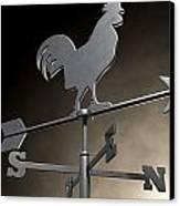 Weathervane Cockerel Isolated Canvas Print
