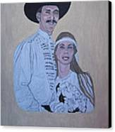 Wedding Portrait Canvas Print by Elizabeth Stedman