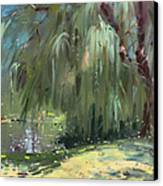 Weeping Willow Tree Canvas Print by Ylli Haruni
