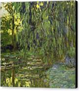 Weeping Willows The Waterlily Pond At Giverny Canvas Print by Claude Monet