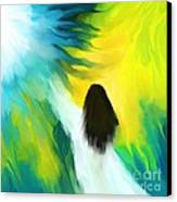 Welcoming The Light Canvas Print by Hilda Lechuga
