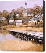 Wellfleet Golden Morn Canvas Print by Karol Wyckoff