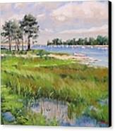 Wentworth By The Sea Canvas Print by Laura Lee Zanghetti